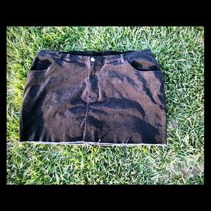 Black Corduroy Skirt, NWOT